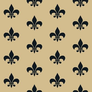 saints fleur de lis - new orleans saints, football, football fabric, fleur de lis fabric, black and gold, gold fleur de lis