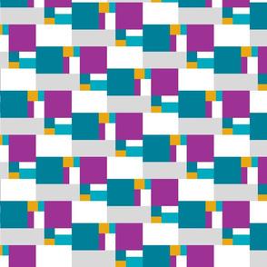color block golden ratio double step large a
