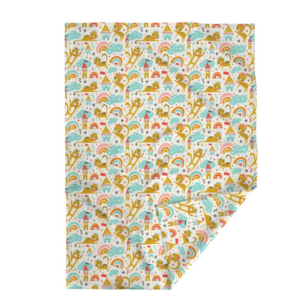 Lakenvelder Throw Blanket featuring Princess Kitty - Large Scale by heatherdutton