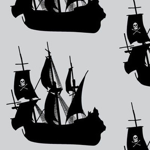 Pirate Ship on Grey