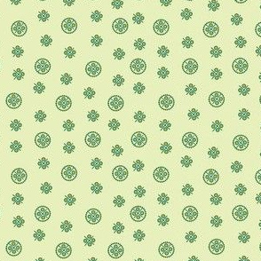 delft dots polychrome green and gold