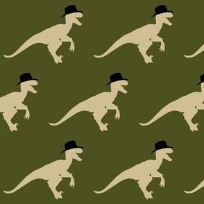 Cool Velociraptor in Cowboy Hat Natural