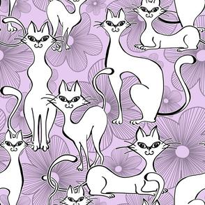 Floral Feline Frenzy
