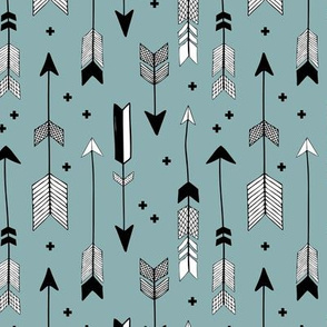 Indian summer and winter love Scandinavian style illustration arrows and geometric crosses gender neutral black and white cool blue