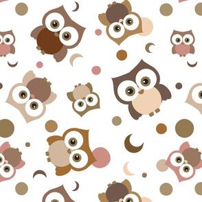 Smiling Big Eyed Brown Owls