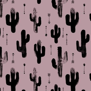 Watercolors ink cactus garden gender neutral geometric arrows cowboy theme autumn mauve purple girls