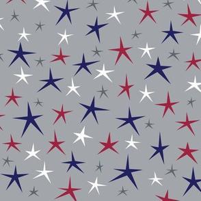 SMALL Patriotic Stars (Gray Multi)