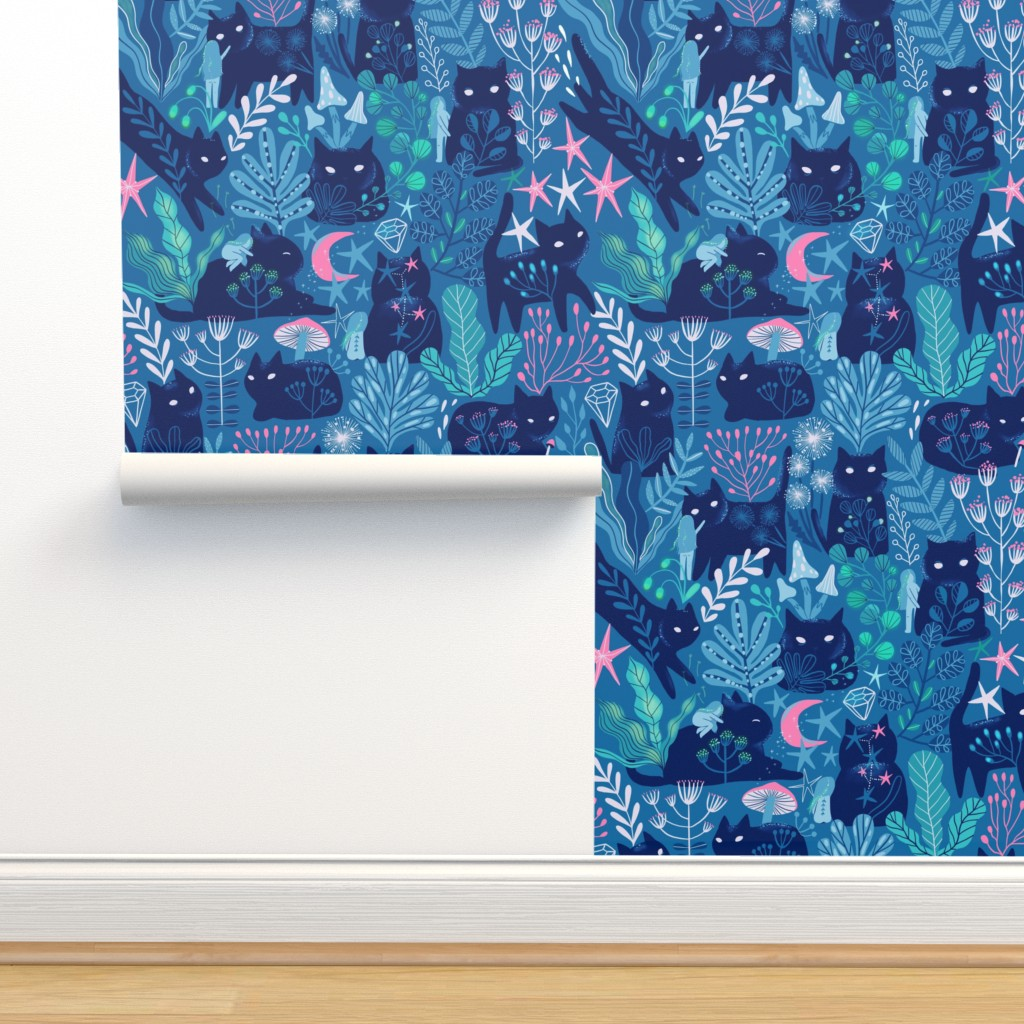 Isobar Durable Wallpaper featuring Meowgical friends - Anya & Misha cat. by kostolom3000