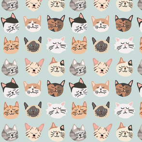 Kitty Cat Faces - detailed