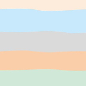 Summer surf stripes and island vibes soft beach sunset pastels gray blue mint