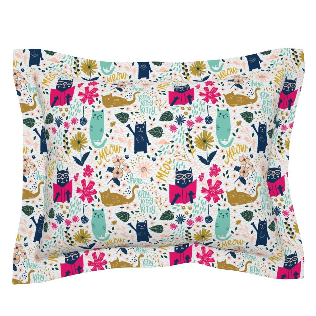 Sebright Pillow Sham featuring Jolly Kitties by scarlette_soleil