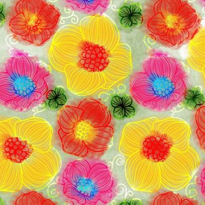 Glowing Summer Floral Flourishes