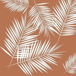 palm  leaves - terracotta