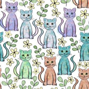 A field of felines