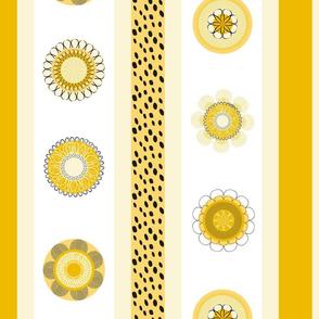 Yellow flowers align