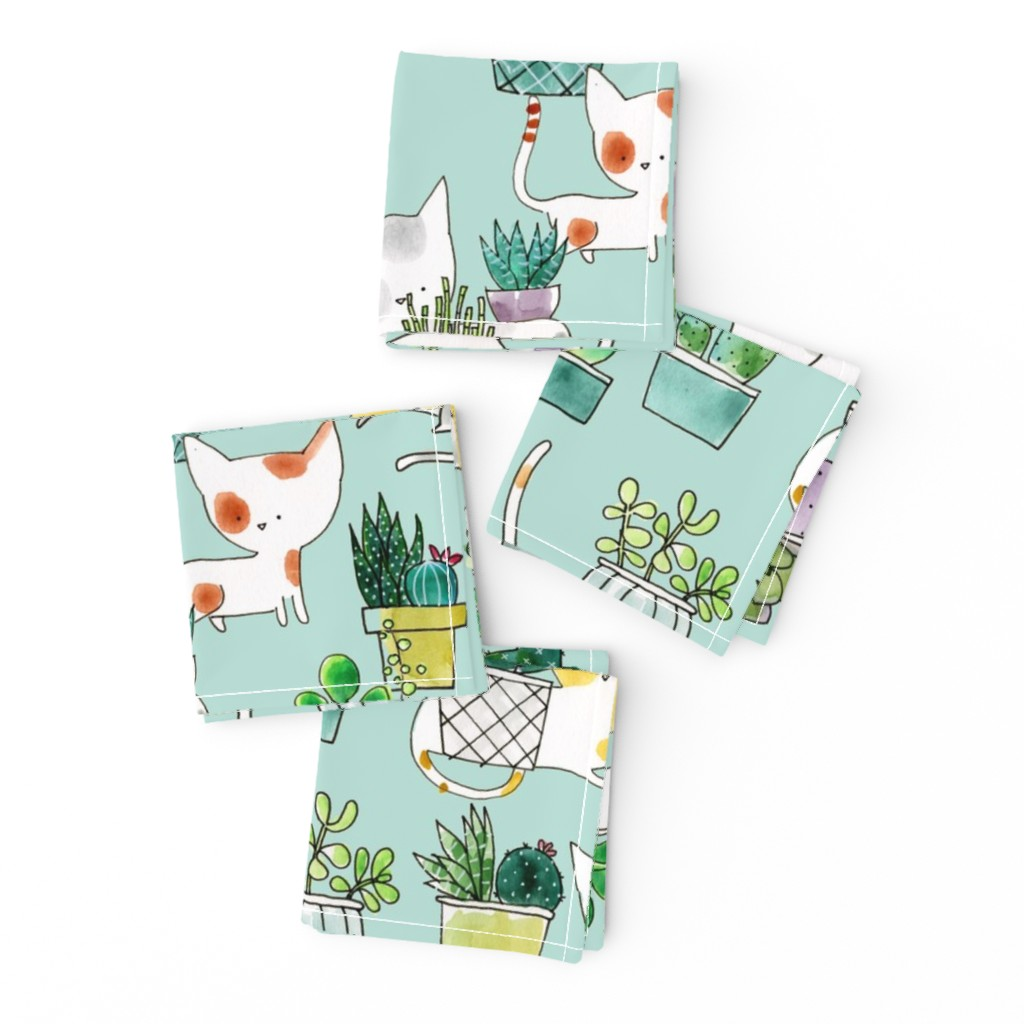 Frizzle Cocktail Napkins featuring Lazy Sundays - © Lucinda Wei by lucindawei