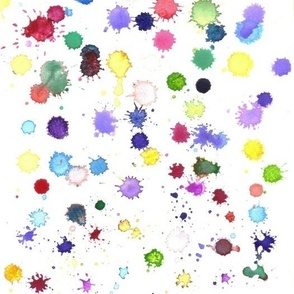 paint splatter ink blot in watercolor rainbow color- drops or colorful splash