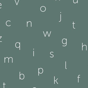 Minimal abc back to school theme alphabet text type design green gray