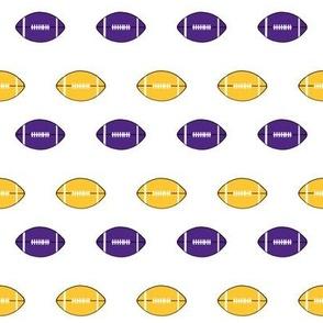 football vikings fabric - american football fabric - yellow and purple