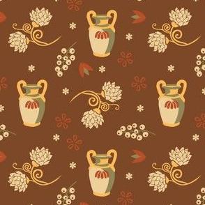 jars and grapes | brown