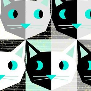 tick tock patchwork atomic kitty