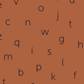 Minimal abc back to school theme alphabet text type design gender neutral copper