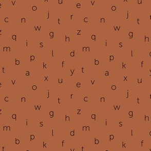 Minimal abc back to school theme alphabet text type design gender neutral copper SMALL