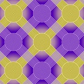 Antique Lattice purple & yellow
