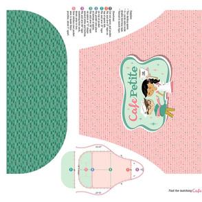 Cafe Petite Apron Pink/Teal