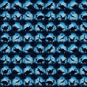 Dinos in the Mist - Blue