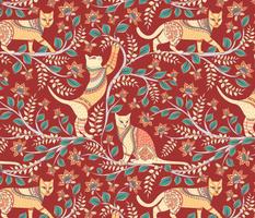 Cats @ Kalamkari.