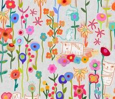 caterday in the flower garden