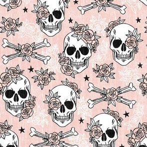 Floral Skull and Crossbones