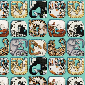 Cat Squares by Artfulfreddy