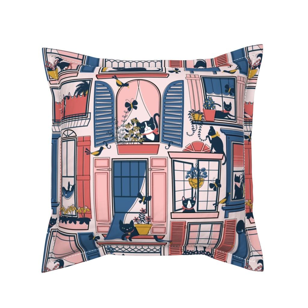 Serama Throw Pillow featuring Urban Jungle Cat by nanshizzle