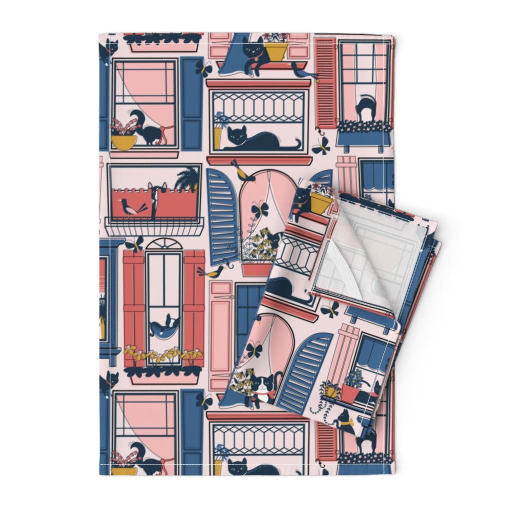 Orpington Tea Towels featuring Urban Jungle Cat by nanshizzle