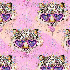 Kitty Pink Confetti Tiger Lollipop