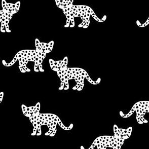 The monochrome minimal leopard baby wild cats gender neutral winter kids design black and white
