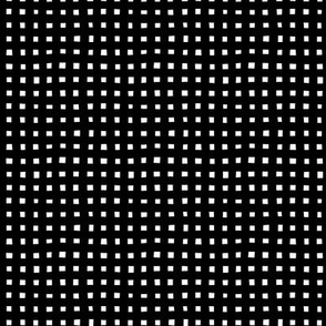 The monochrome minimal maze check and cube squares and boxes black and white SMALL