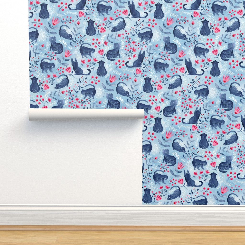 Isobar Durable Wallpaper featuring Folksy Fur Baby by gingerlique
