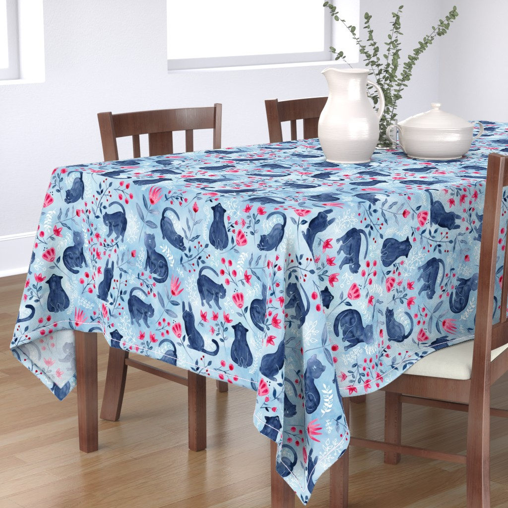 Bantam Rectangular Tablecloth featuring Folksy Fur Baby by gingerlique