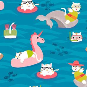 Summer Holiday Cats Larger