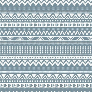 Minimal zigzag mudcloth bohemian mayan abstract indian summer love aztec design dusty stone blue winter horizontal stripes
