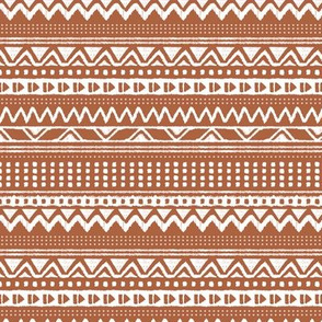 Minimal zigzag mudcloth bohemian mayan abstract indian summer love aztec design rust copper fall horizontal stripes