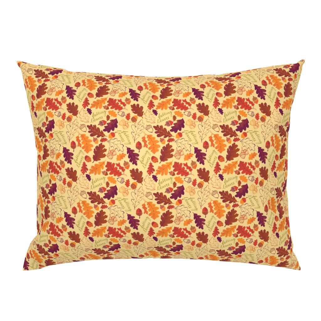 Campine Pillow Sham featuring Oak Leaf Autumn - SMALLER by ohn_mar_win