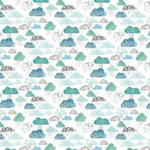 Watercolour Clouds - SMALLER