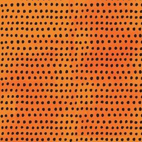 Dots on orange