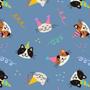 Cat Purr-tay! - Denim Blue