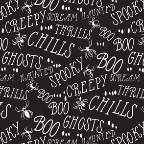 Haunted Hill Spooky Lettering : black