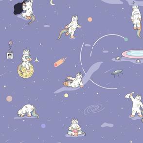 Weird Unicorn Cat in Space